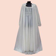 413fedc491d 1940s Lingerie Nightgown Peignoir Hollywood Medium M
