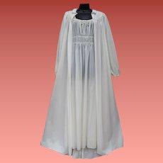 1940s Lingerie Nightgown Peignoir Hollywood Medium M
