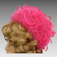 9466c6860e4 Vintage Christian Dior Fanciful Feathered Hat Shocking Pink for Kentucky  Derby