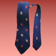 Vintage Necktie Depression Era Fashion 1930s 1940s Damask