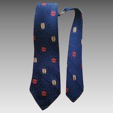 Vintage Necktie Depression Era Fashion 1930s 1940s Damask