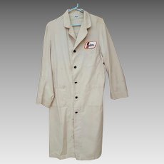 Vintage Men's Long Mechanic Shop Coat Parker for Jim  Houston
