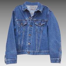 Levi Strauss Big E Denim Jacket 2 Pocket Single Stitch 525 Button