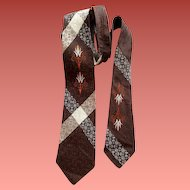 Vintage 1960s Necktie Damask Men's Neck Tie