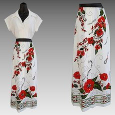 Vintage Hawaiian Designer  Shaheen Dress Medium