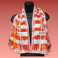 Vera Neumann Long Rectangle Scarf Sizzling Summer to Autumn Colors