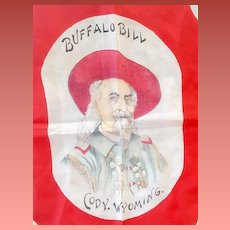 Antique Silk Scarf Buffalo Bill Cody Wyoming Stampede Rodeo Extremely Rare