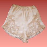 1930s Pink Silk Tap Panties / Burlesque Bottoms Size Small