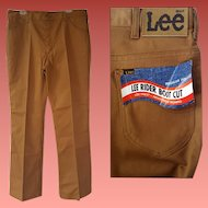 Vintage USA Lee Riders Boot Cut Denim Pants 38 X 34 Deadstock Jeans