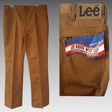 Vintage USA Lee Riders Boot Cut Denim Pants 38 X 34 Deadstock Jeans