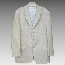 1950s - 1960s Men's Vintage Jacket Off White Speckled with Gray Size Large