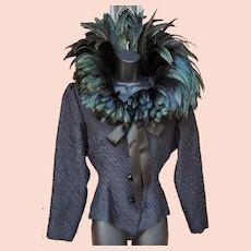 Raven Wing Jacket by St. Laurent Rive Gauche Paris