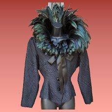 Raven Wing Jacket by St. Laurent Rive Gauche Paris France