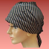 1970s Turban Style Hat Soft Pre-Tied Scarf Fabric Small Medium Large