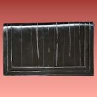 Vintage Black Eel Skin Purse Shoulder or Clutch Minty