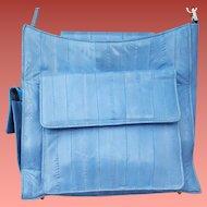 Rare Eel Skin Purse Shoulder Bag Robin Egg Blue Lee Sands Korea 1995