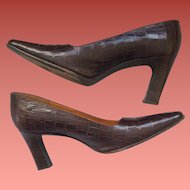Vintage High Heel Shoes Ralph Lauren 8-1/2 B Spain All Leather