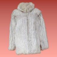 Blue Saga Fox Fur Coat Size Small - Medium 8 - 10 Finland