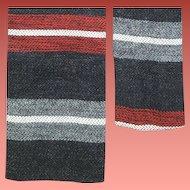 1960s Men's Narrow Necktie Square Bottom Skinny Tie
