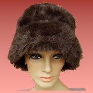 Faux Fur Bucket Hat Faux Suede Lining Soft Sides Medium - Large