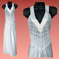 Cathedral Lace Nightgown White on White Miss Dior by Christian Dior Size Large