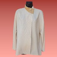 Gianni Versace Blouse 100% Silk Italy Size Small