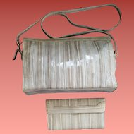 Eel Skin Purse with Wallet Platinum Blonde