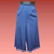 1970s Nylon Petti Pants Lace Edge Leg Slip Lingerie Size Small