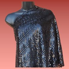 Gorgeous Sequin Evening Shawl or Wrap One Size