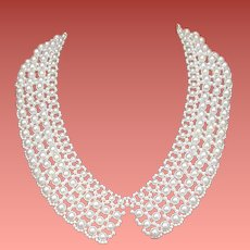 Wide Faux Pearl Collar Necklace Summer Wedding Party