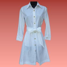 1960s Cotton Dress Nurse Maid Waitress Uniform Small