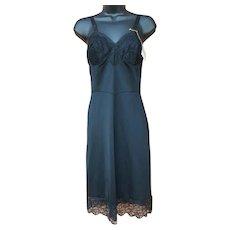 Unworn Full Length Black Slip Lovely Lace Small Average