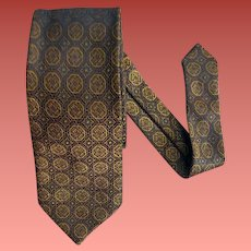 1960s Narrow Necktie Men's Mid Century Neck Tie