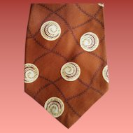 1950s Men's Wide Rayon Necktie Father's Day and Baseball