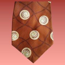 1950s Men's Wide Rayon Necktie