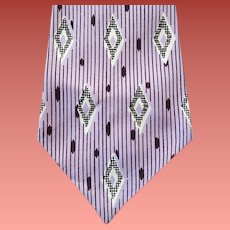 Gorgeous Wide 1950s Vintage Necktie Father's Day DeLuxe