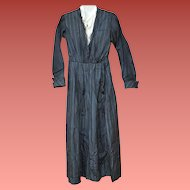 1910 Antique Silk Mourning Dress for Project Pattern Display