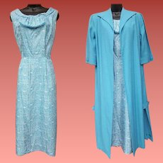 1950s Summer Dress and Coat Mid Century Size Large