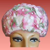 1960s Vintage Hat Pinks for Summer Fashion