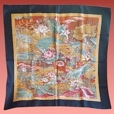 Liberty of London Silk Scarf Art Nouveau Print 27 X 27 Inches