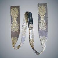 Vintage Silk Bow Tie Amazing Damask Minty
