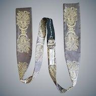 Gorgeous Vintage Silk Bow Tie Amazing Damask