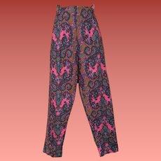 1960s Cotton Capri Pants Mod Unworn with Tags Med
