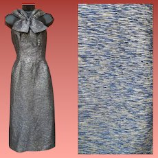 1950s Cocktail Dress Medium - Large Silver and Gold Lurex