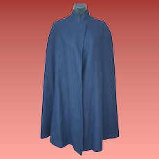 1950s Nurse Cape Navy Blue and Red Size Medium