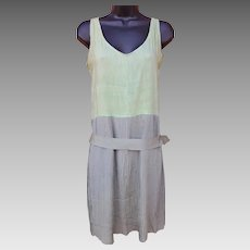 1920s Cotton and Silk Flapper Dress Size Small