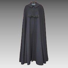 Victorian Men's Wool Cape Floor Length X Large