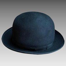 Vintage Men's Black Bowler Hat XX Large