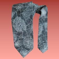Spider Web Necktie Sparkly Halloween