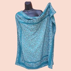 Marvelous Silk Scarf Teal Looks Good on You